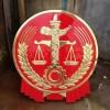 新疆阿克苏市2.5米贴金国徽制作-3.5米贴金法院徽生产