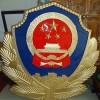 3.5米压铸型悬挂室外警徽制作-定制铝合金材质警徽