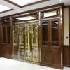 定制酒店不锈钢酒柜客厅红酒恒温柜餐厅玻璃展示柜别墅金属隔断柜