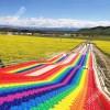 大众游乐项目彩虹滑道厂家  户外游乐项目网红滑道
