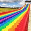 彩虹滑道项目场地设计规划 色彩缤纷的多彩滑道