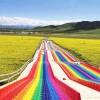 高人气彩虹滑道 玩了还想玩 七彩滑道游乐好项目