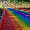 游乐设备彩虹滑道价格 景区游乐园可四季游玩的七彩滑梯